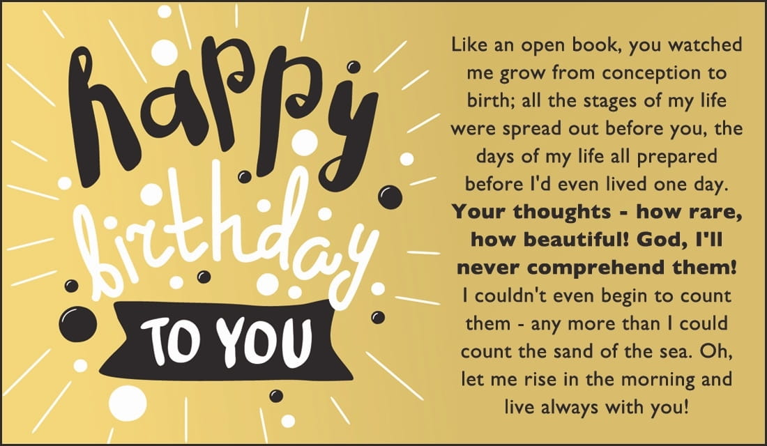 Free Happy Birthday Psalm 139 Msg Ecard Email Free Personalized