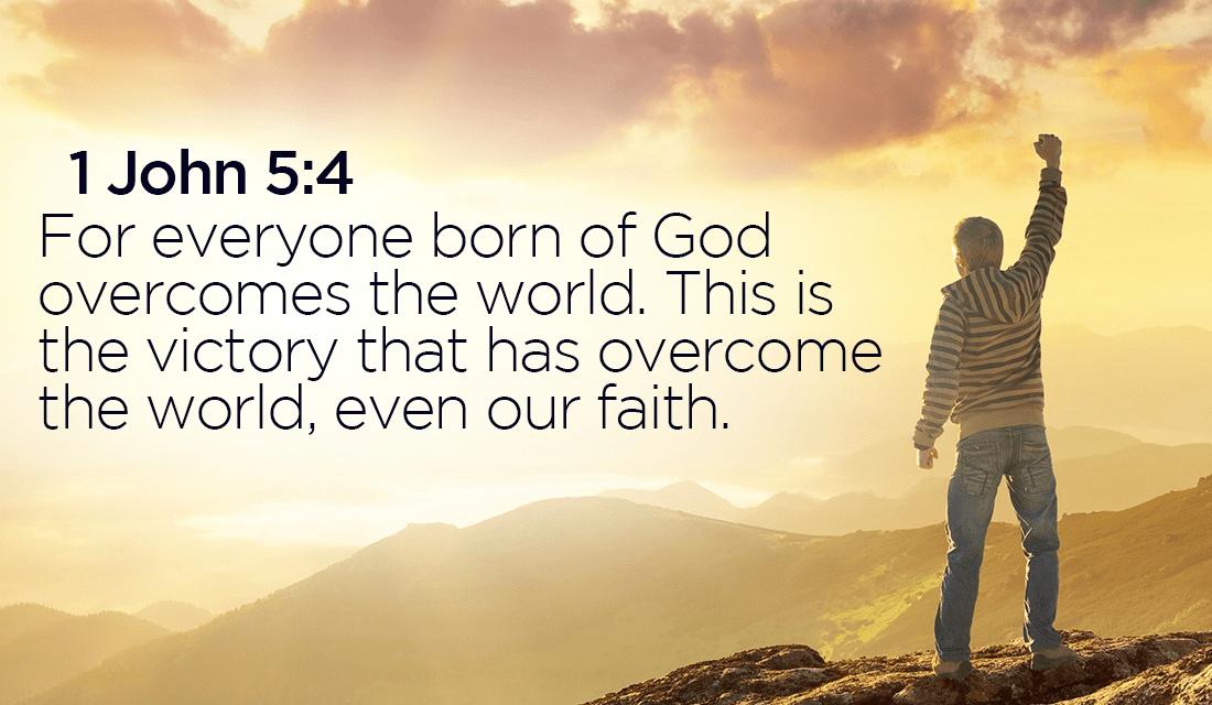 God will always win the battle! - 1 John 5:4 ecard, online card