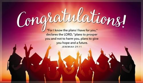 congratulation with graduation