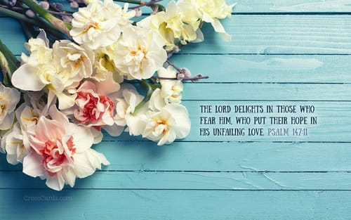 Psalm 147:11 mobile phone wallpaper