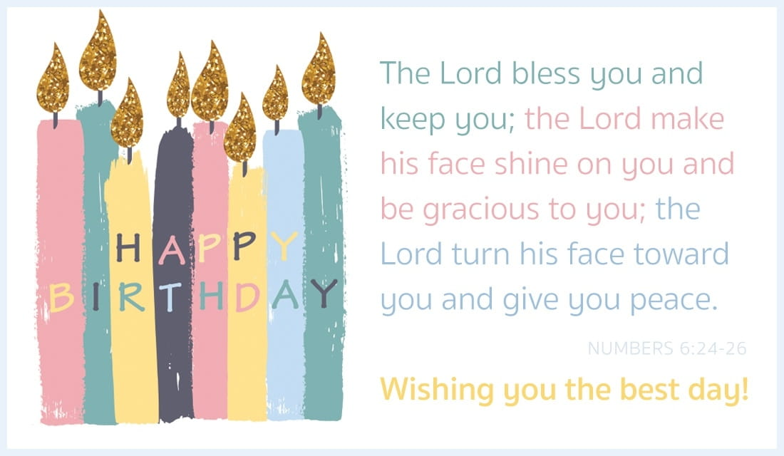 Happy Birthday - Numbers 6:24-26 ecard, online card