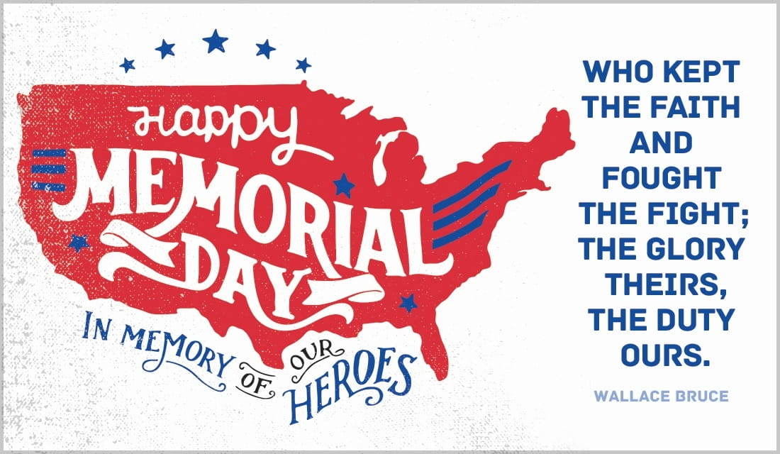 Memorial Day ecard, online card