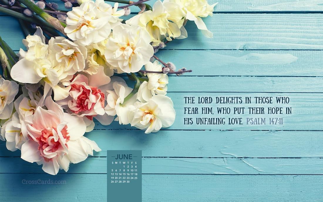 June 2016 - Psalm 147:11 mobile phone wallpaper