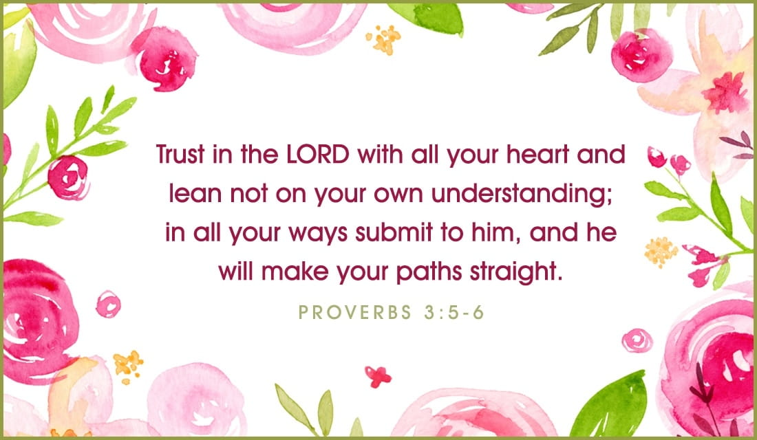 Proverbs 3:5-6 Trust the Lord ecard, online card
