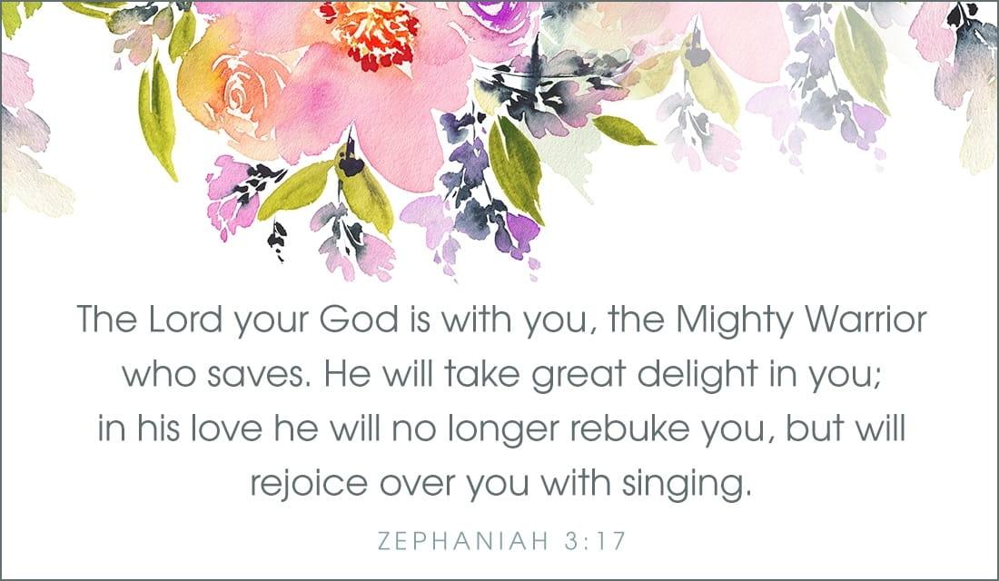 Zephaniah 3:17 ecard, online card