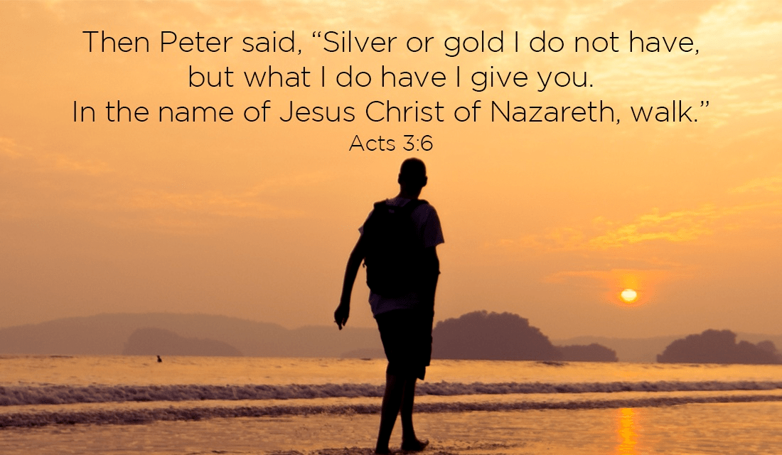 I love Peter! He wasn't rich, but he helped people with the gifts that God brings! ecard, online card