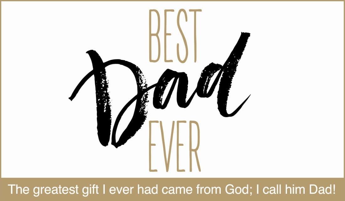 Best Dad Ever ecard, online card