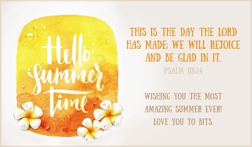 Summer ecards free email greeting cards online hello summer time m4hsunfo