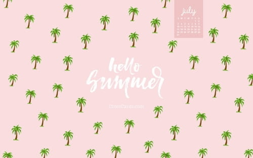 July 2016 - Hello Summer mobile phone wallpaper