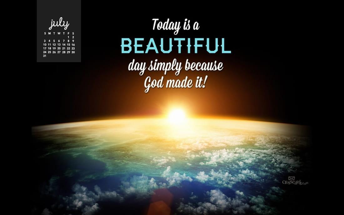 July 2016 - Beautiful Day mobile phone wallpaper