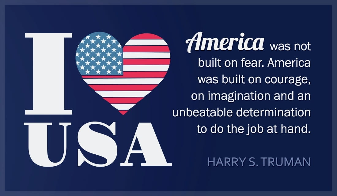 I Love USA - Harry Truman Quote ecard, online card