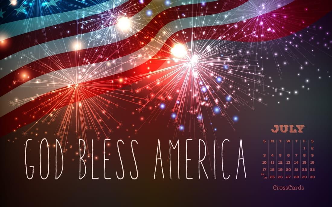 July 2016 - God Bless America mobile phone wallpaper