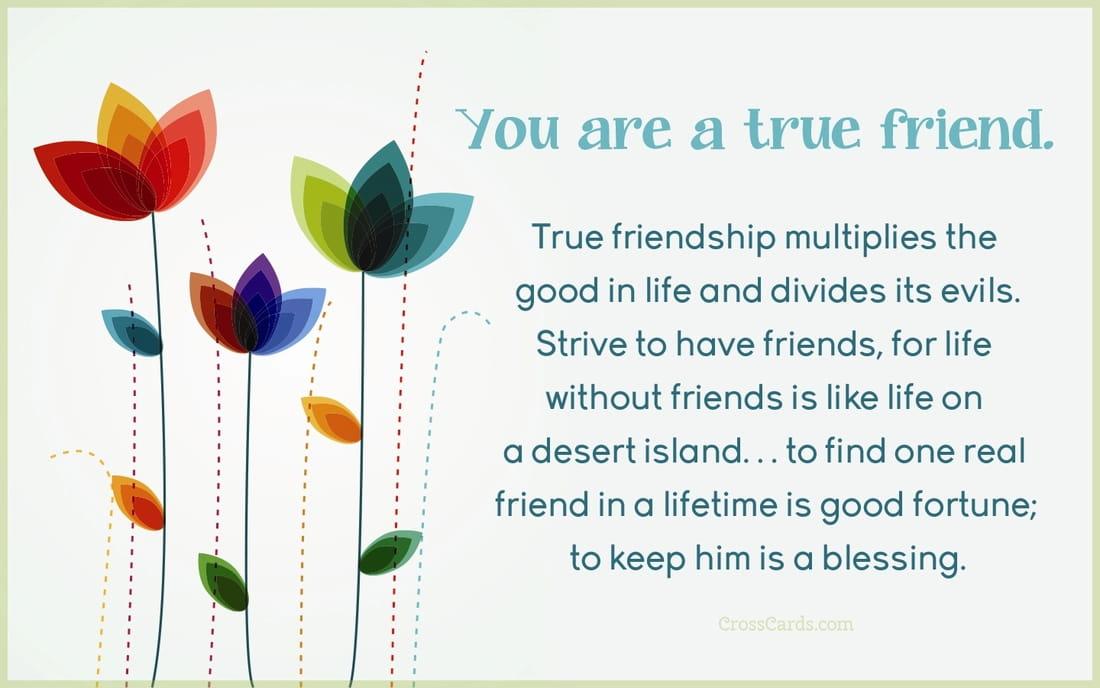 You are a true friend. ecard, online card