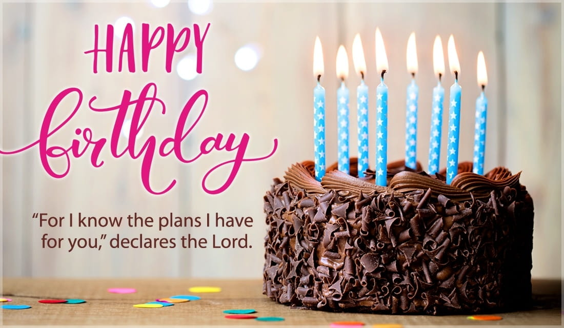 Jeremiah 29:11 - Happy Birthday ecard, online card