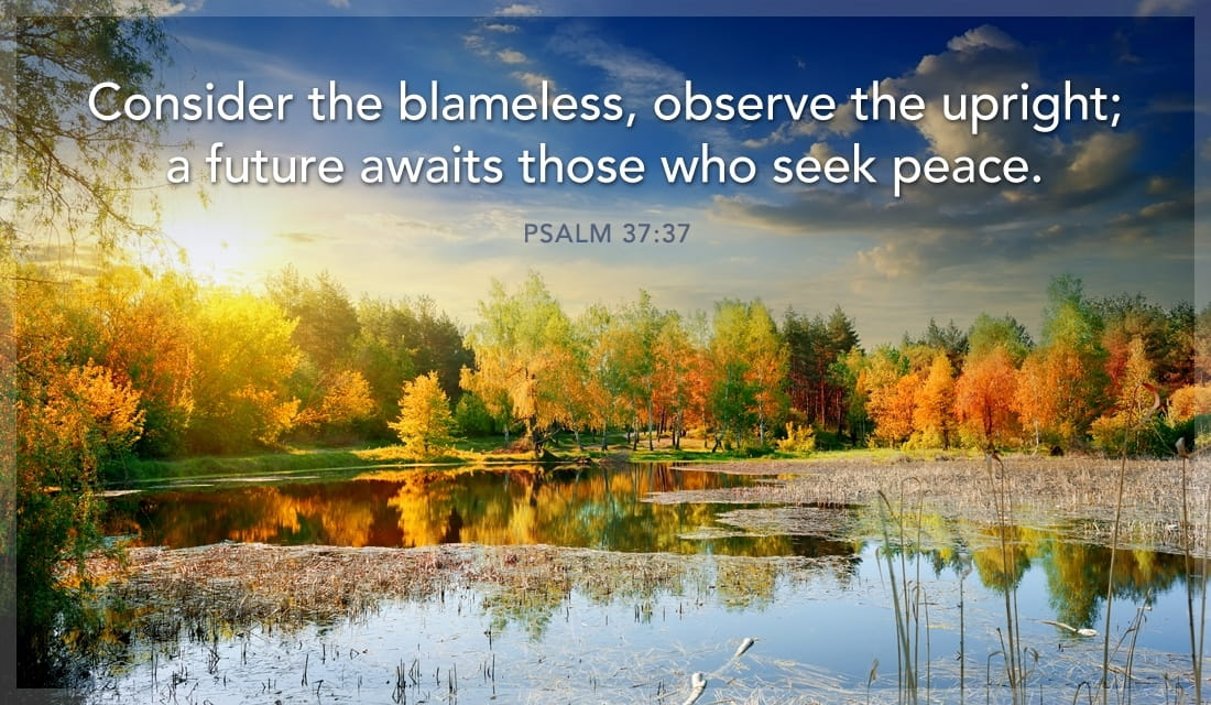 Psalm 37:37 ecard, online card