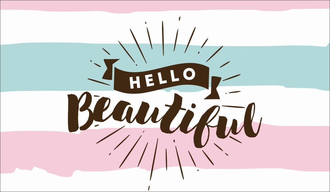 Hello Beautiful ecard, online card