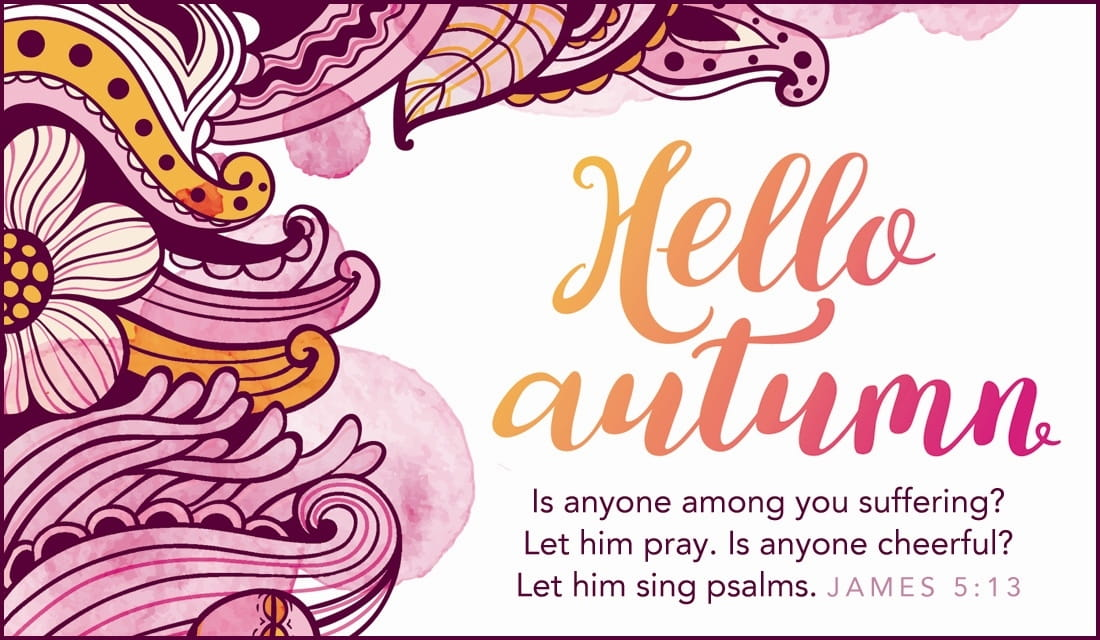 Hello Autumn ecard, online card
