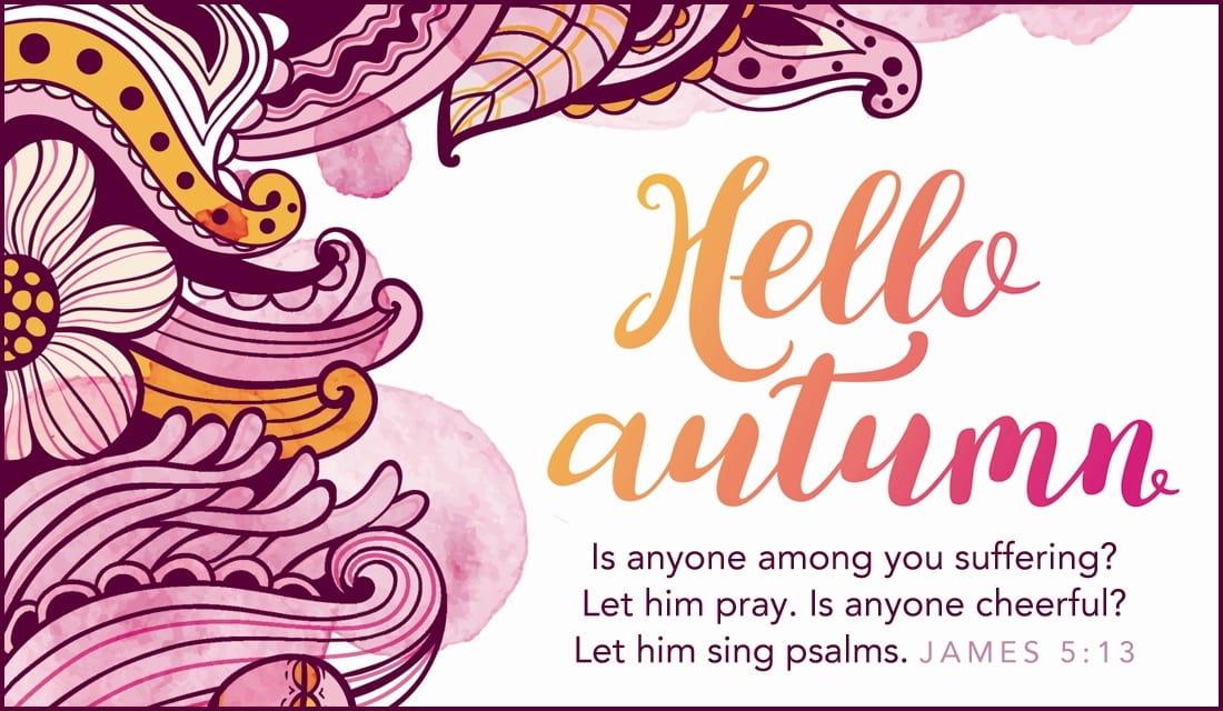 Hello Autumn ecard, online card