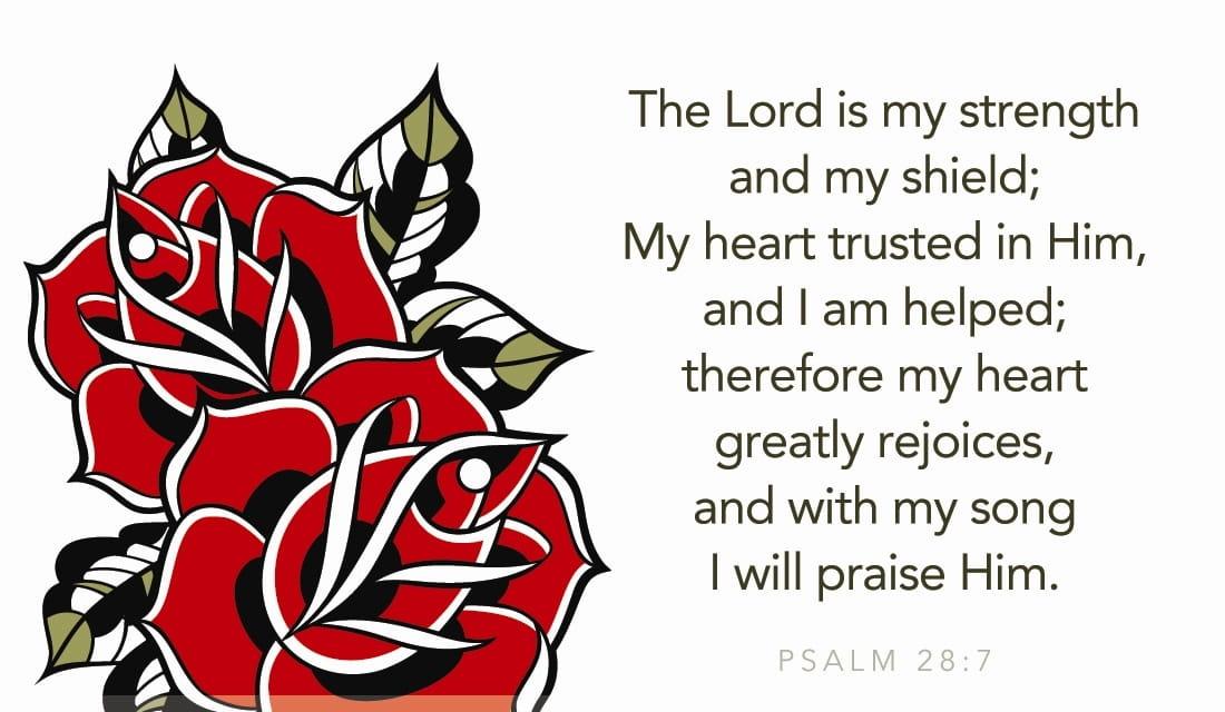 Psalm 28:7 ecard, online card