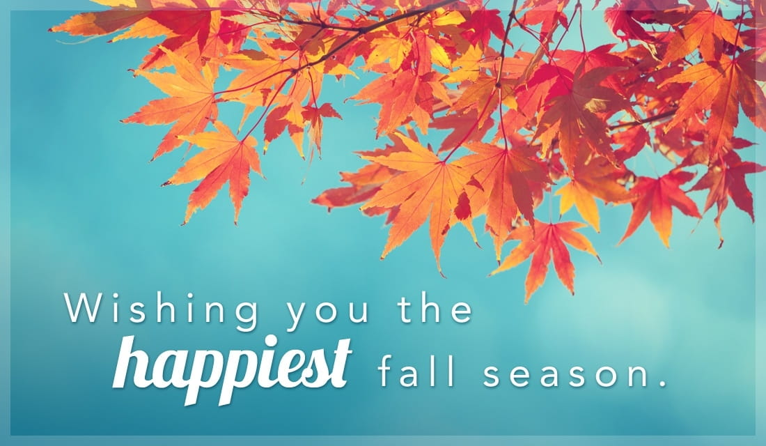Wishing You the Happiest Autumn Season ecard, online card