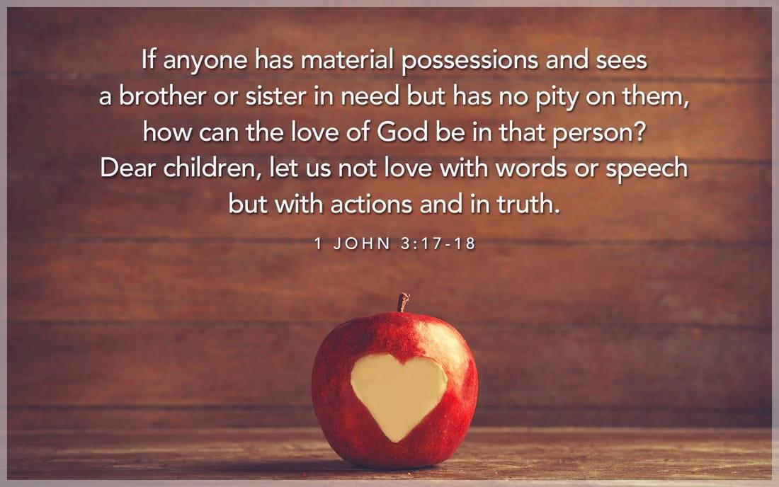 1 John 3:17-18 ecard, online card