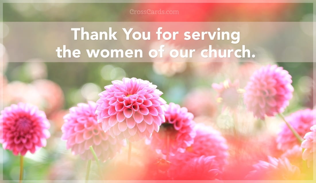 Thank you for serving the women of our church. ecard, online card