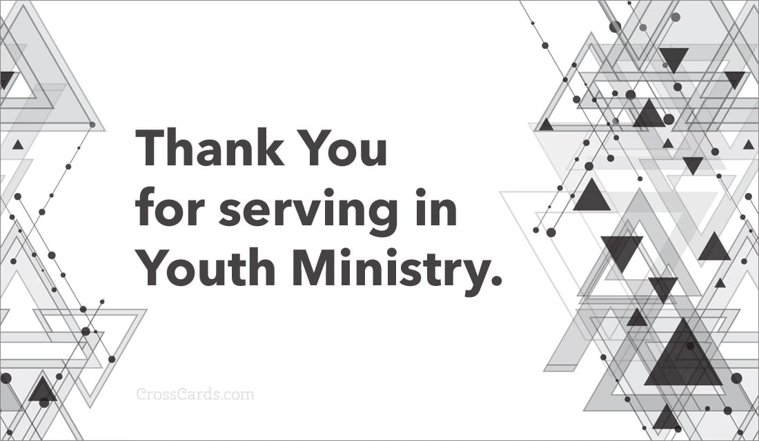 Thank You for serving in Youth Ministry. ecard, online card
