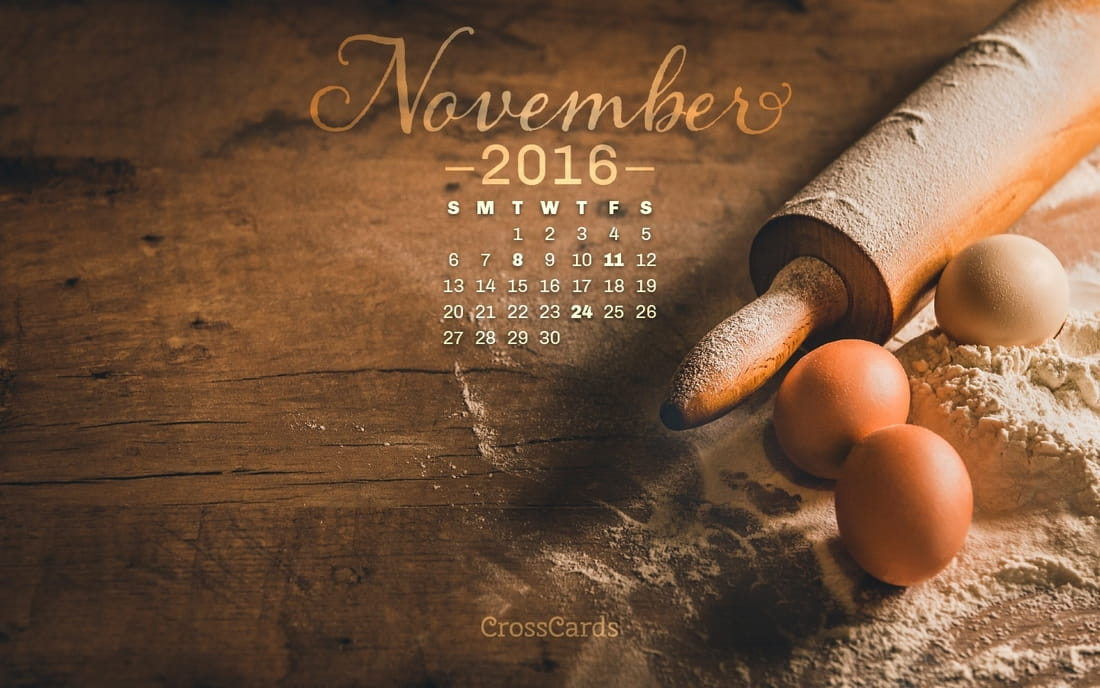 November 2016 - Baking mobile phone wallpaper