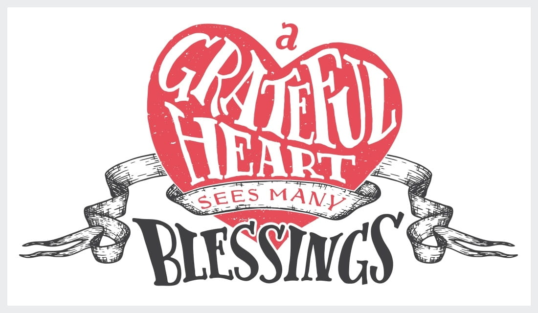 a grateful hearts sees many blessings ecard online card
