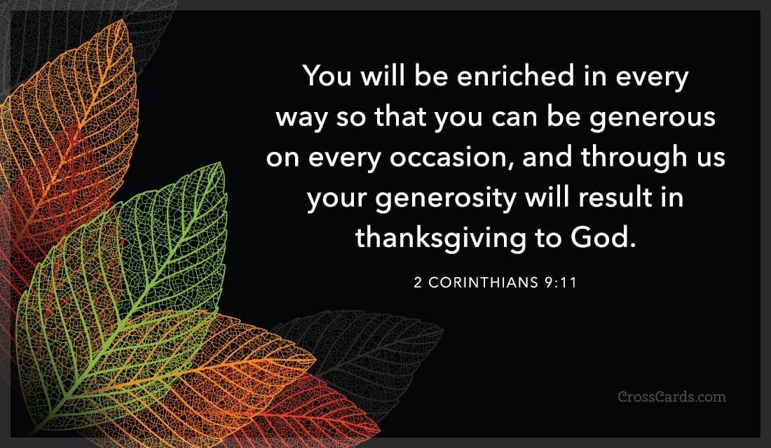 2 Corinthians 9:11 ecard, online card