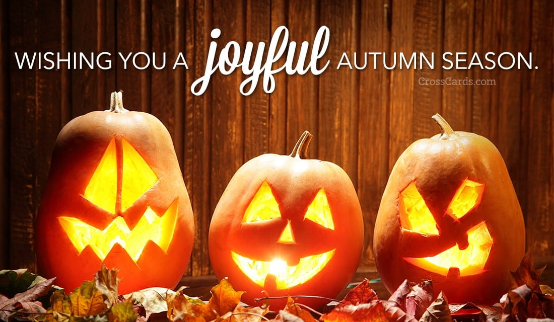 Wishing you a joyful autumn season! ecard, online card