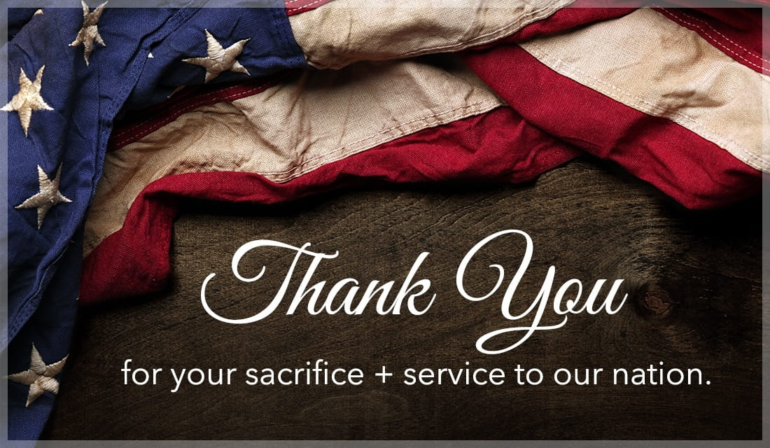 Thank You for your sacrifice and service to our nation ecard, online card