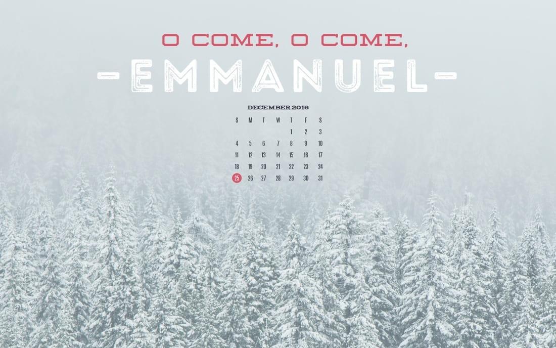 December 2016 - Emmanuel mobile phone wallpaper