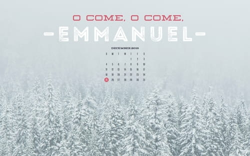 December 2016 - Emmanuel mobile phone wallpaper