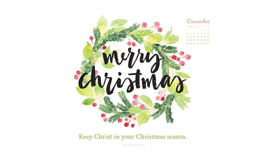 December 2016 - Keep Christ in Christmas mobile phone wallpaper