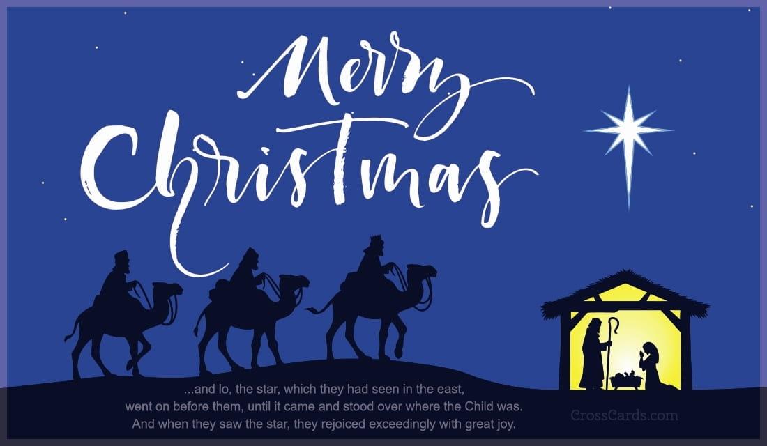 merry christmas star of bethlehem ecard online card