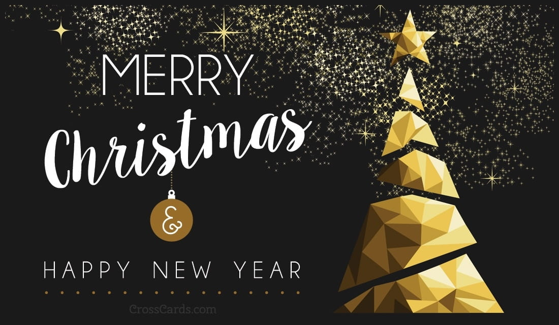 Merry Christmas and Happy New Year eCard - Free Christmas Cards Online