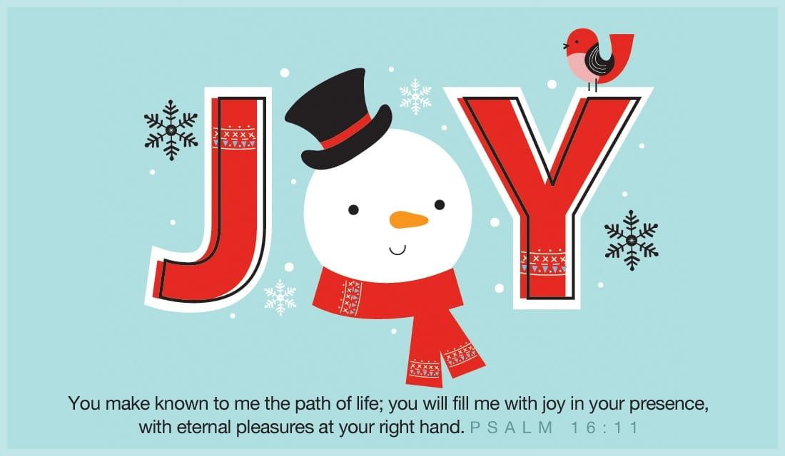 JOY Psalm 16:11 ecard, online card