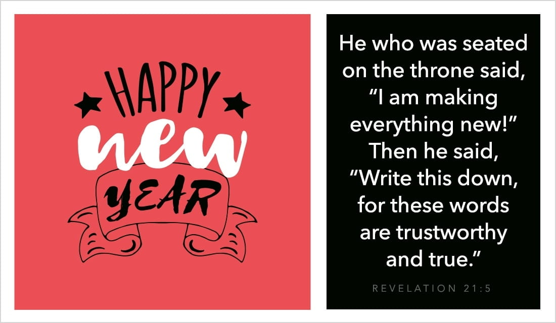 Happy New Year - Revelation 21:5 ecard, online card