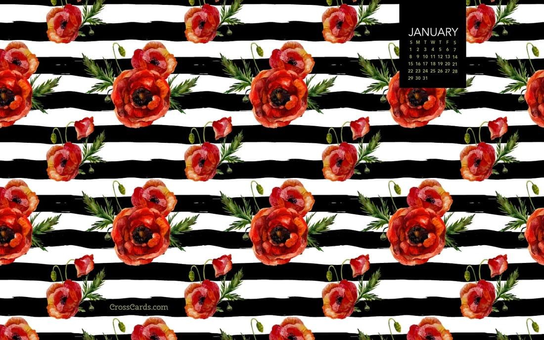 January 2017 - Floral mobile phone wallpaper