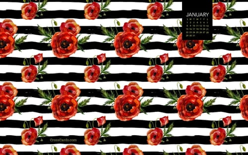 January 2017 - Floral mobile phone wallpaper