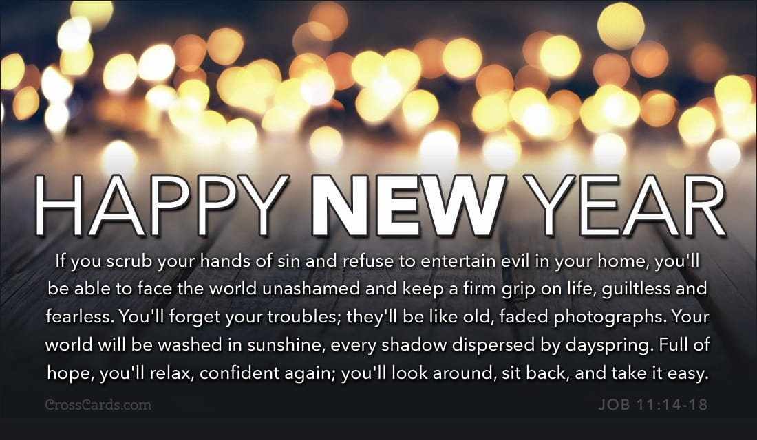 Happy New Year - The Message ecard, online card
