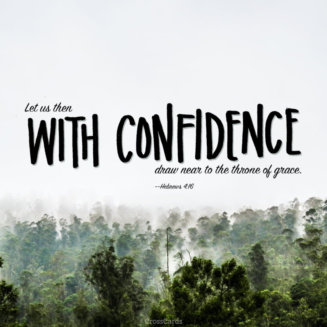 Let Us Approach the Throne of Grace with Confidence!  ecard, online card