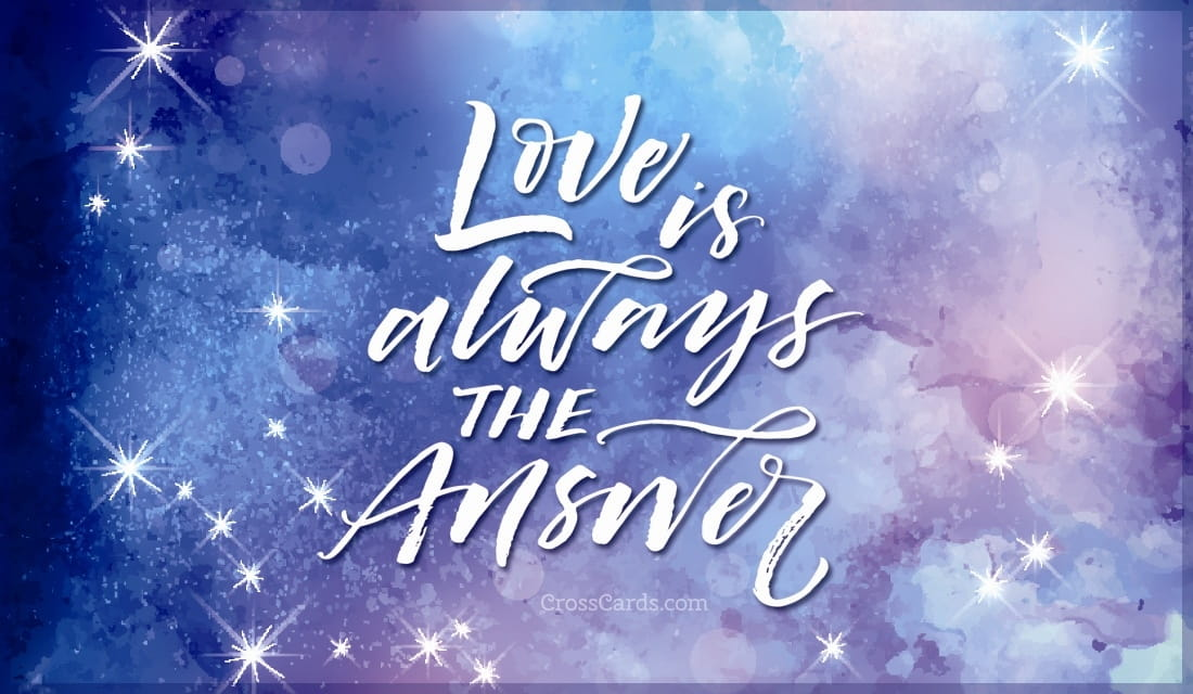 Love is Always the Answer ecard, online card