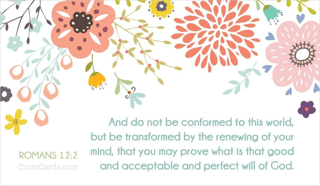 Romans 12:2  ecard, online card