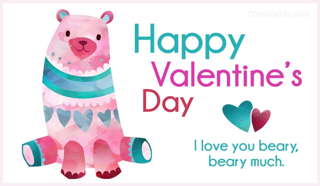 I love you beary, beary much. ecard, online card