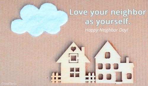Happy Neighbor Day! (3/26) ecard, online card