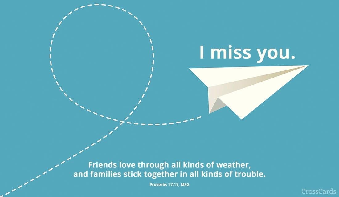Paper Airplane ecard, online card