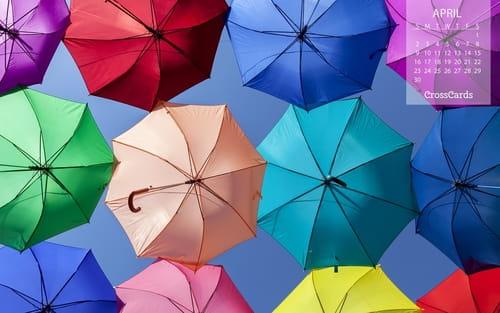 April 2017 - Umbrellas mobile phone wallpaper