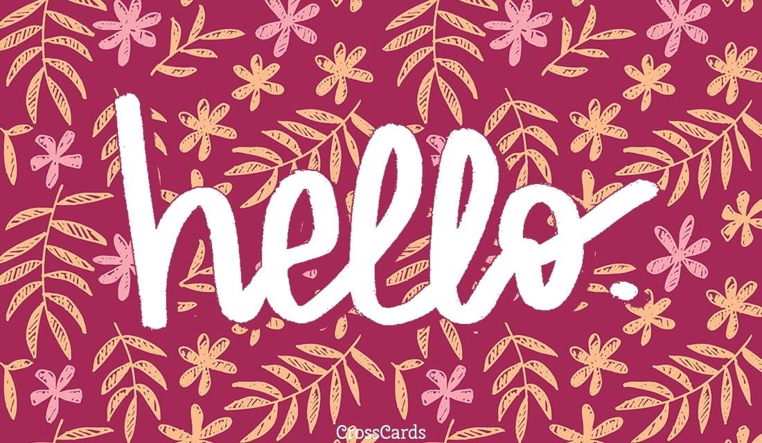 Hello. ecard, online card